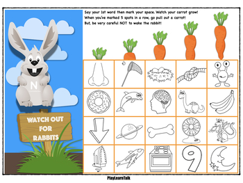 """Articulation """"Early Sounds"""" - Sounds Mats for Jumping Jack Rabbit Game"""