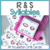 Articulation Sounds in Syllables R & S:  Go-To Quick Skill Drill Cards