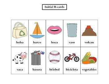 Articulation: Spanish B words