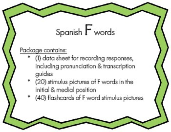 Articulation: Spanish F words