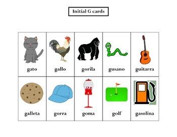 Articulation: Spanish G words