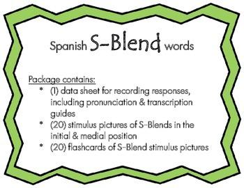 Articulation: Spanish S-Blend words