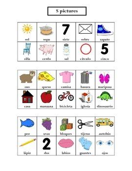 Articulation: Spanish S words
