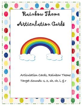Articulation Speech Cards (sh, ch, s, z, l, r )