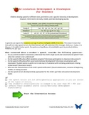 Speech Development Strategies for Teachers by Speech-Language Therapist