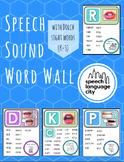 Articulation Speech Sound Word Wall