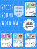 Articulation Speech Sound Word Wall