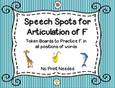 Speech Spots for Articulation of F