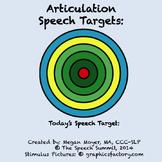 Articulation Speech Targets FREEBIE