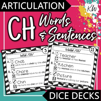 Articulation - CH - Words and Sentences - Interactive Task Cards