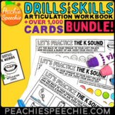 Articulation Speech Therapy Drills and Flashcards Bundle b
