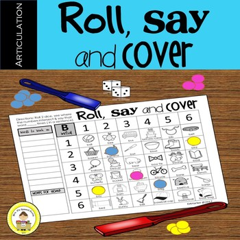 Articulation  Speech Therapy Game - Roll, Say and Cover