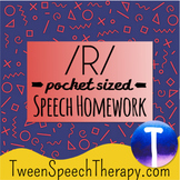 Articulation Speech Therapy Homework: Pocket Sized /R/