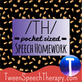 Articulation Speech Therapy Homework: Pocket Sized /TH/