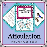 PROGRAM 2 - Articulation Speech Therapy Intervention  - Games, Handouts...