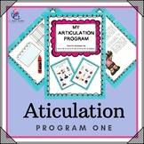 PROGRAM 1 - Articulation Speech Therapy Intervention   - Games, Handouts...