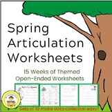 Articulation Speech Therapy Spring Worksheets -Data Friendly