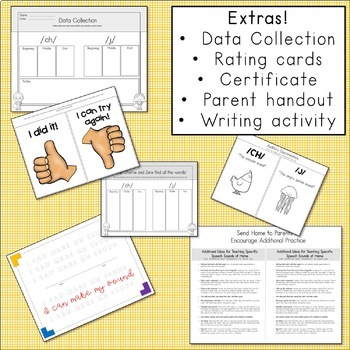 Articulation Activities and Comic Book: Speech Therapy (/ch/ and /j/)