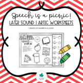 Articulation   Speech is a Picnic : Later Sounds Worksheets