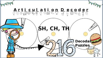 Articulation Spin & Decode: Digraphs CH SH TH
