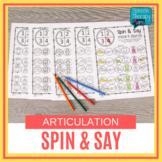 No Prep Articulation SPIN & SAY - 14 Sounds