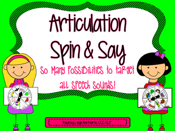 Articulation Spin & Say ***Big Bundle***