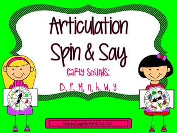 Articulation Spin & Say ***Early Sounds***