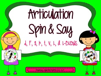 Articulation Spin & Say ***Elementary Developmental Sounds***