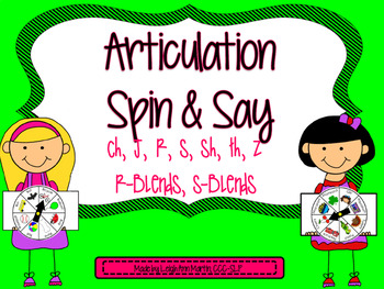 Articulation Spin & Say ***Later Sounds***