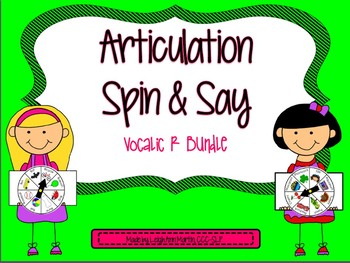 Articulation Spin & Say ***Vocalic R***