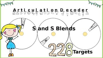 Articulation Spin and Decode: S and S Blends; Print-N-Go