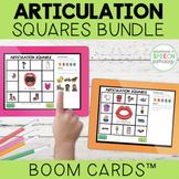 Articulation Boom Cards Squares BUNDLE | distance learning