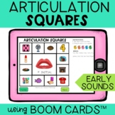 Articulation Boom Cards™ Squares EARLY sounds   Distance Learning