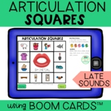 Articulation Boom Cards™ Squares LATE sounds   Distance Learning
