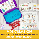 Articulation Stamp Letter Station for Prevocalic R, R-blen