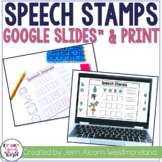 Articulation Stamps Google Slides™ & Print - Distance Learning
