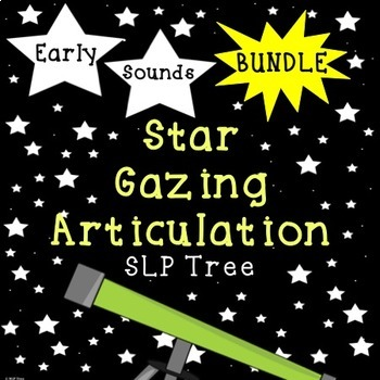 Articulation Star Gazing Early Developing Sounds Bundle