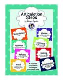 Articulation Steps Visual Aid