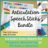 Articulation Speech Sticks Bundle:1000+ Stimulus Items wit
