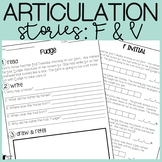 F and V Articulation Stories with Language Component