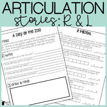 Articulation Stories (R and L) With Language Component
