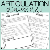 R and L Articulation Stories With Language Component