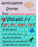 Articulation Stories: Vocalic /r/: /ar, or, eer, er/ Plus Comprehension! Speech