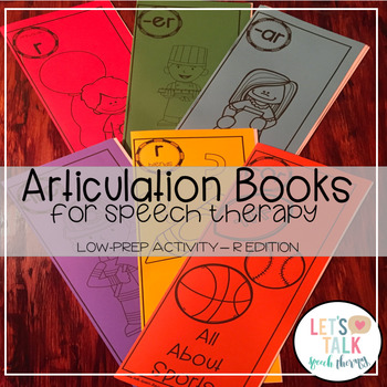 Articulation Books for Speech Therapy-R Edition (Low Prep)