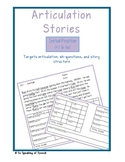 Articulation Stories - /r/ & /w/ FREEBIE