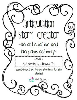 Articulation Story Creator - A Speech and Language Writing Activity: Level 1