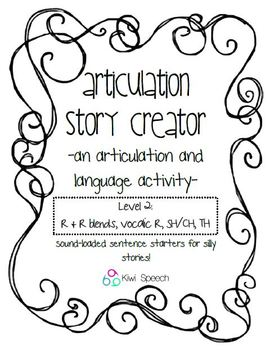 Articulation Story Creator - A Speech and Language Writing Activity - Level 2
