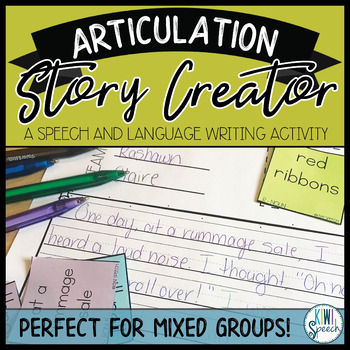 Articulation Story Creator - Speech/Language Writing Activity: Lev. 1 & 2 BUNDLE