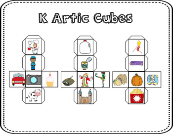 Articulation Story Cubes for K & G  Sounds