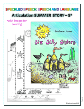 Articulation Story - /S/ all positions- Six Silly Sisters - Coloring - Phonology
